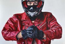 RED SPEED QUEEN, acrylic on canvas,120x80cm, 2014.