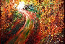 Put kroz šumu (uje na platnu 50x70cm) prodato