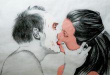 Resident kiss Mix media 90 x 130 cm 2013